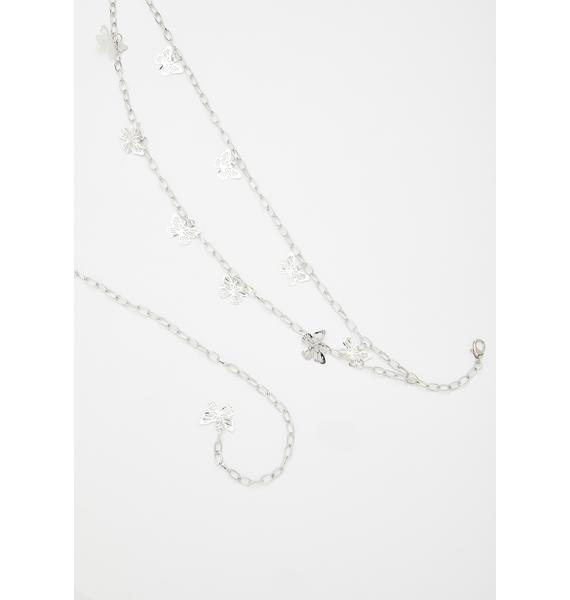 Dreamin' Of You Butterfly Chain Belt