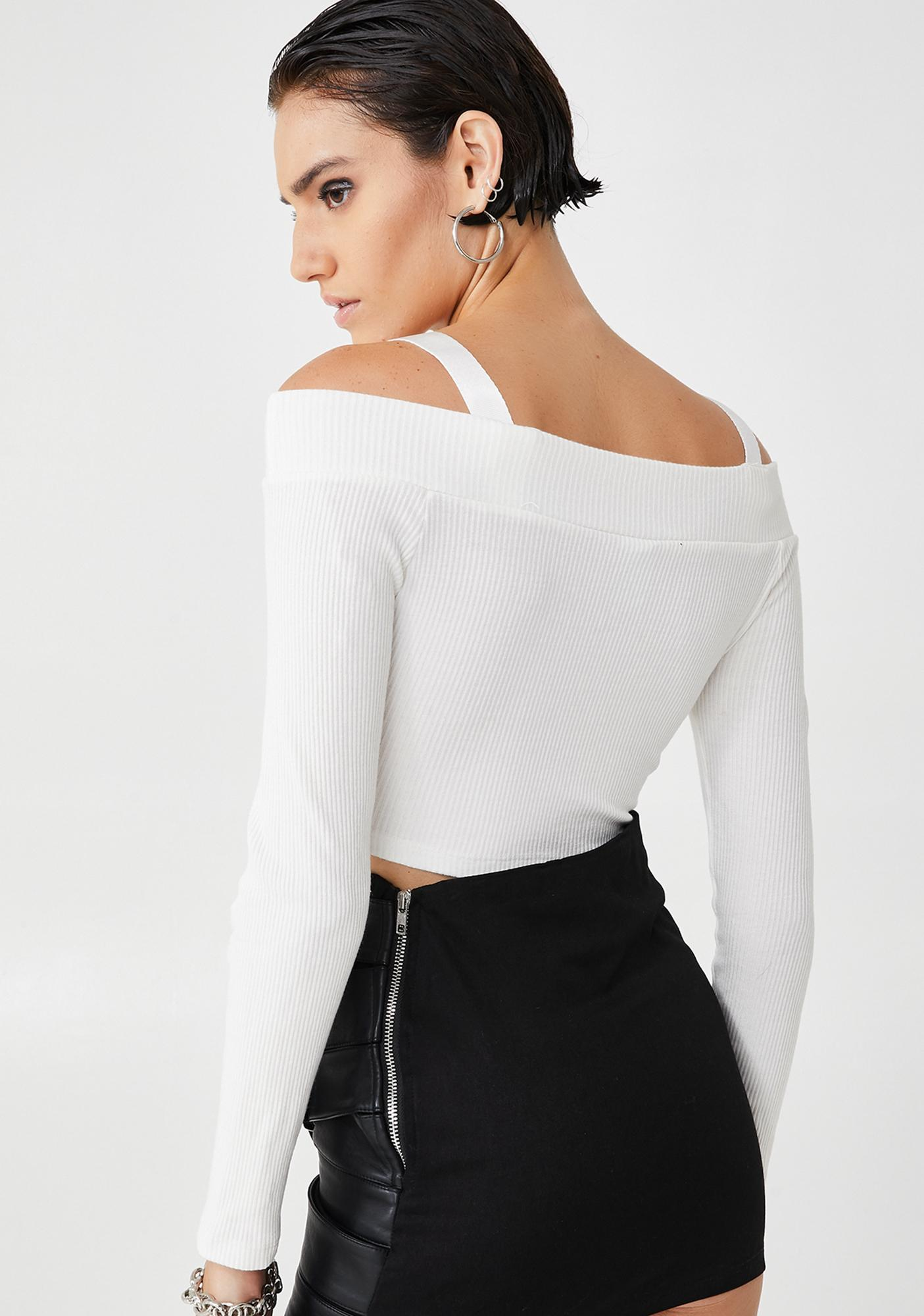 Plugged NYC Buckle Up Crop Top