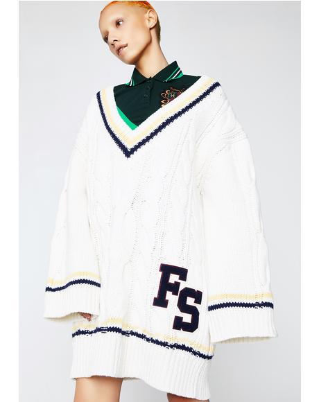 FENTY PUMA BY Rihanna V-Neck Cable Knit Sweater