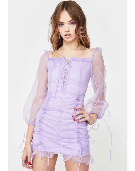 Lilac Feng Shui Mini Dress