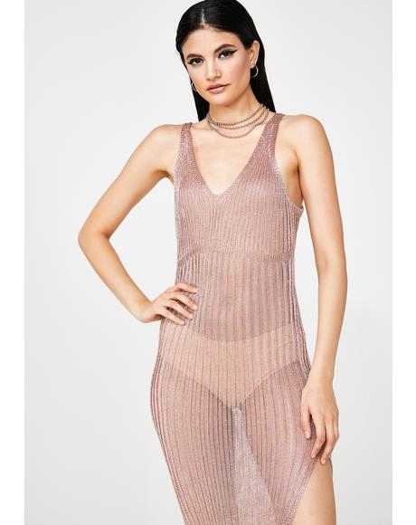 Sunlight Fusion Mesh Maxi Dress
