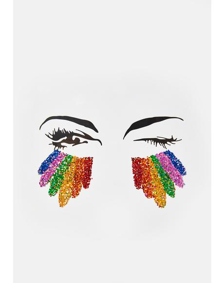 Rainbow Glitter Eye Stickers