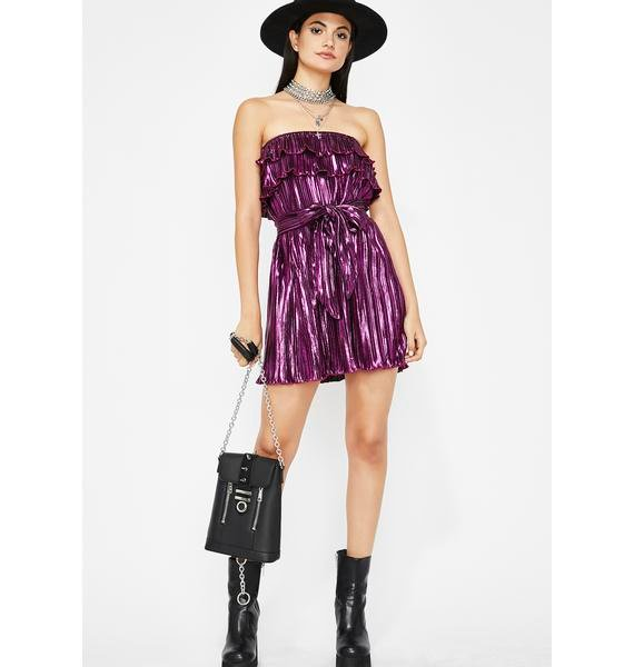 Party Mood Pleated Dress
