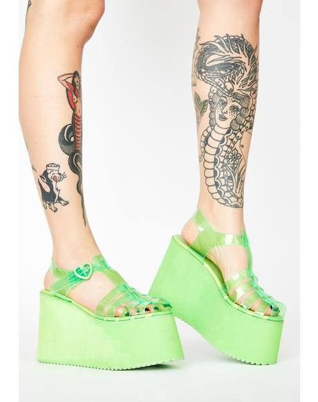 Kiwi Sugar Rush Jelly Sandals