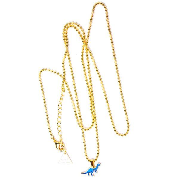 Joyrich x Giza Dinosaur Brachiosaurus Micro Ball Chain Necklace