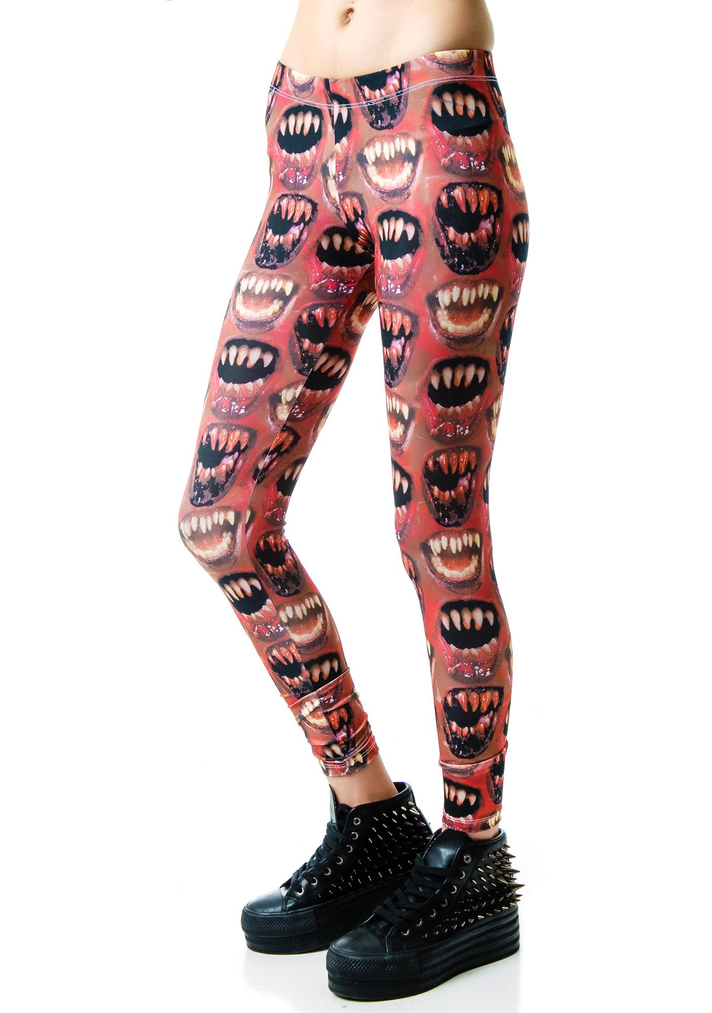 Kreepsville 666 Monster Mouth Leggings