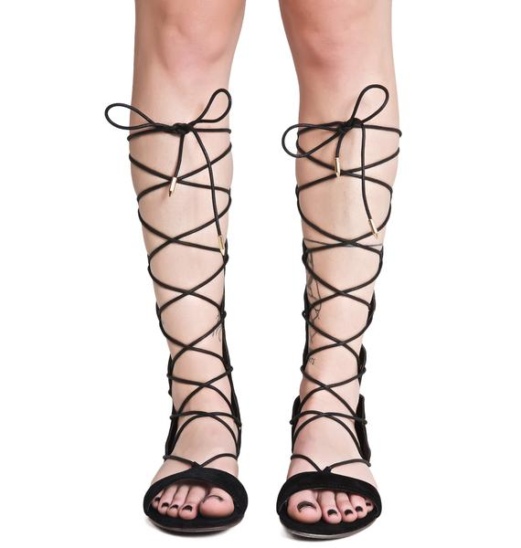 Stingray Lace Up Sandals