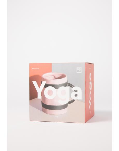Pink Yoga Mat Mug