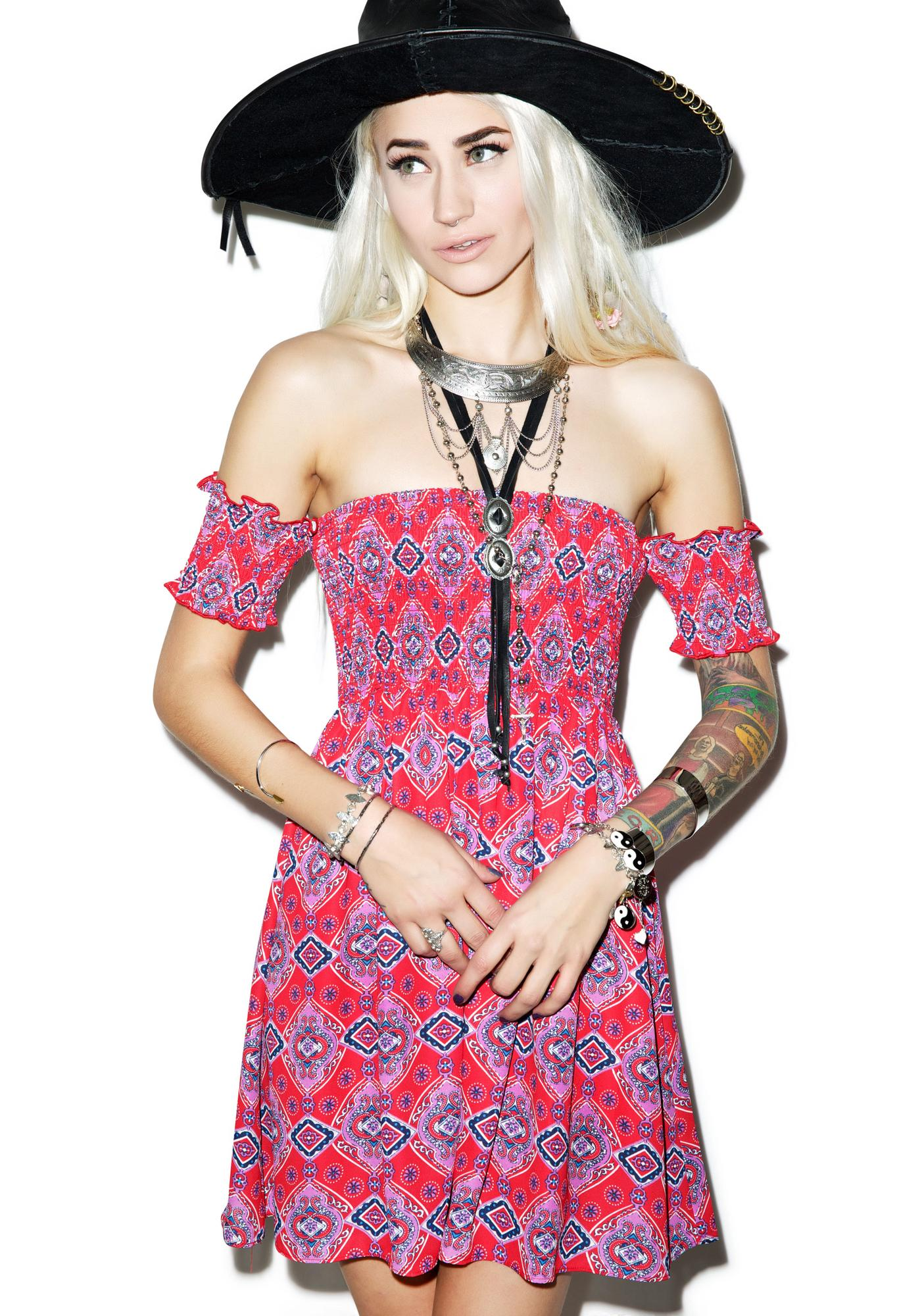 Rise of Dawn Florence Off The Shoulder Dress