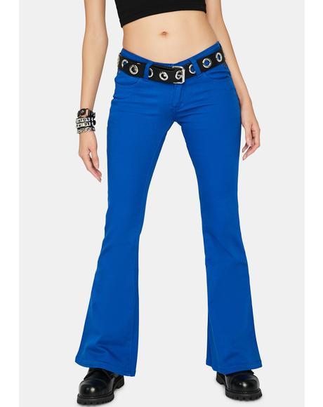 Blue Vintage Big Flare Jeans