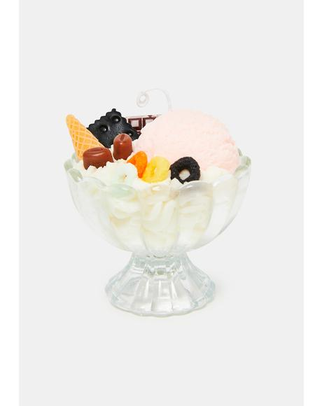 Just Desserts Ice Cream Sundae Candle