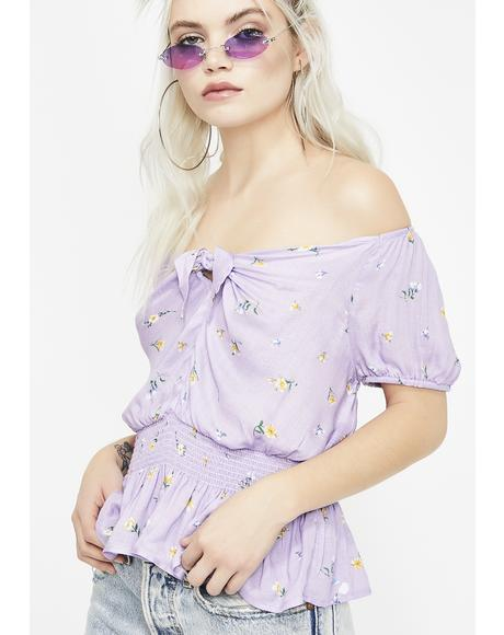Lilac Luscious Life Floral Top