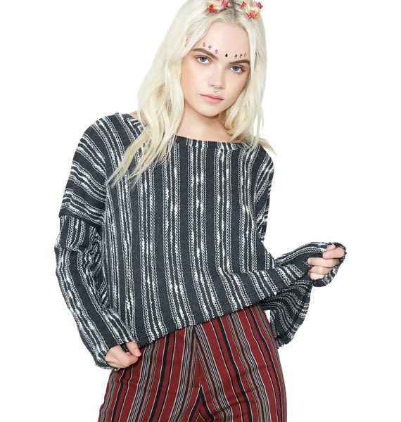 Along The Coast Striped Sweater