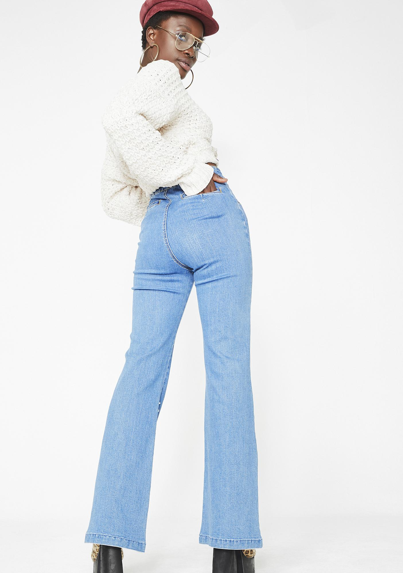 Chasin Sunshine Flared Jeans