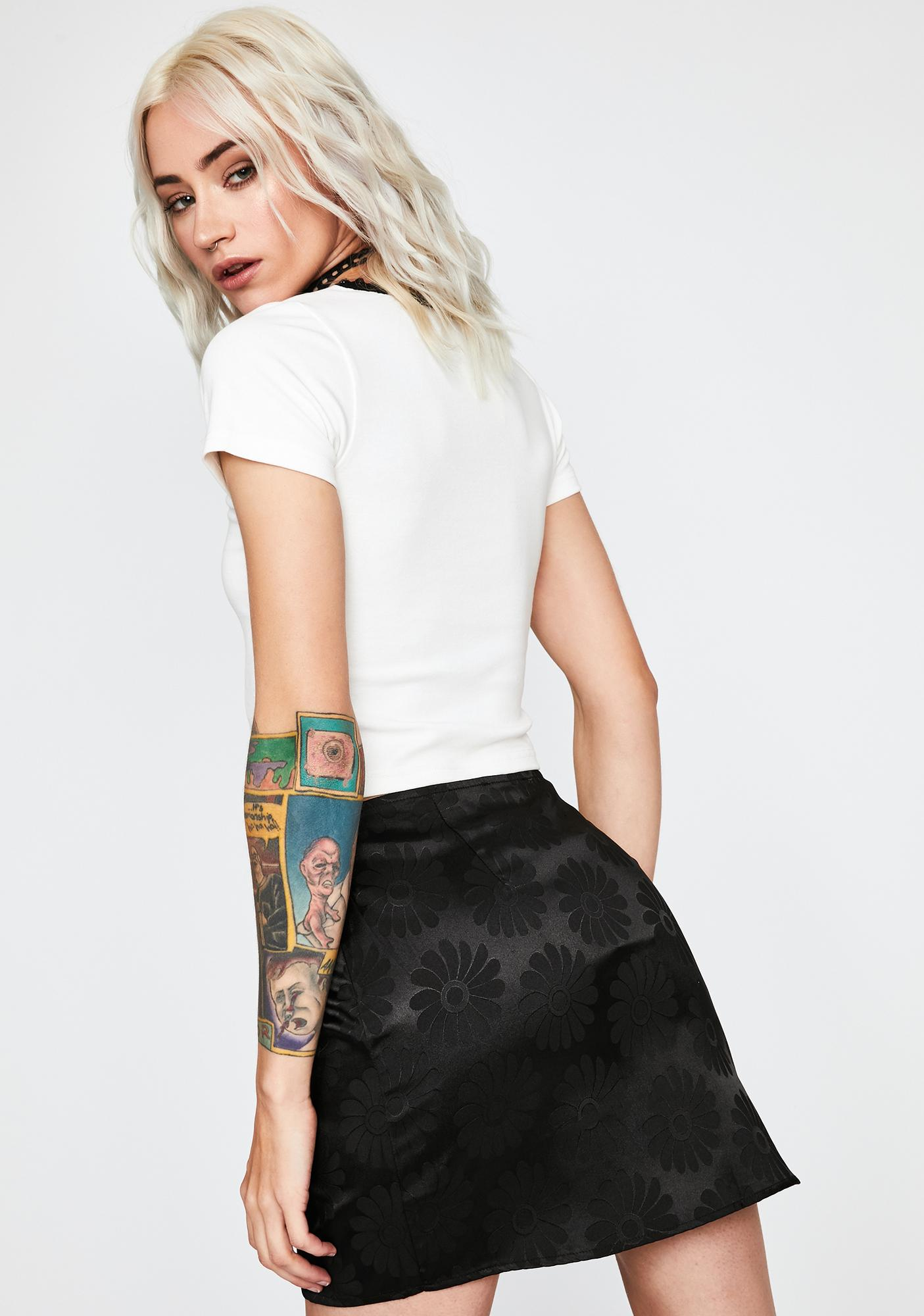 Sin Triggered Tulips Mini Skirt