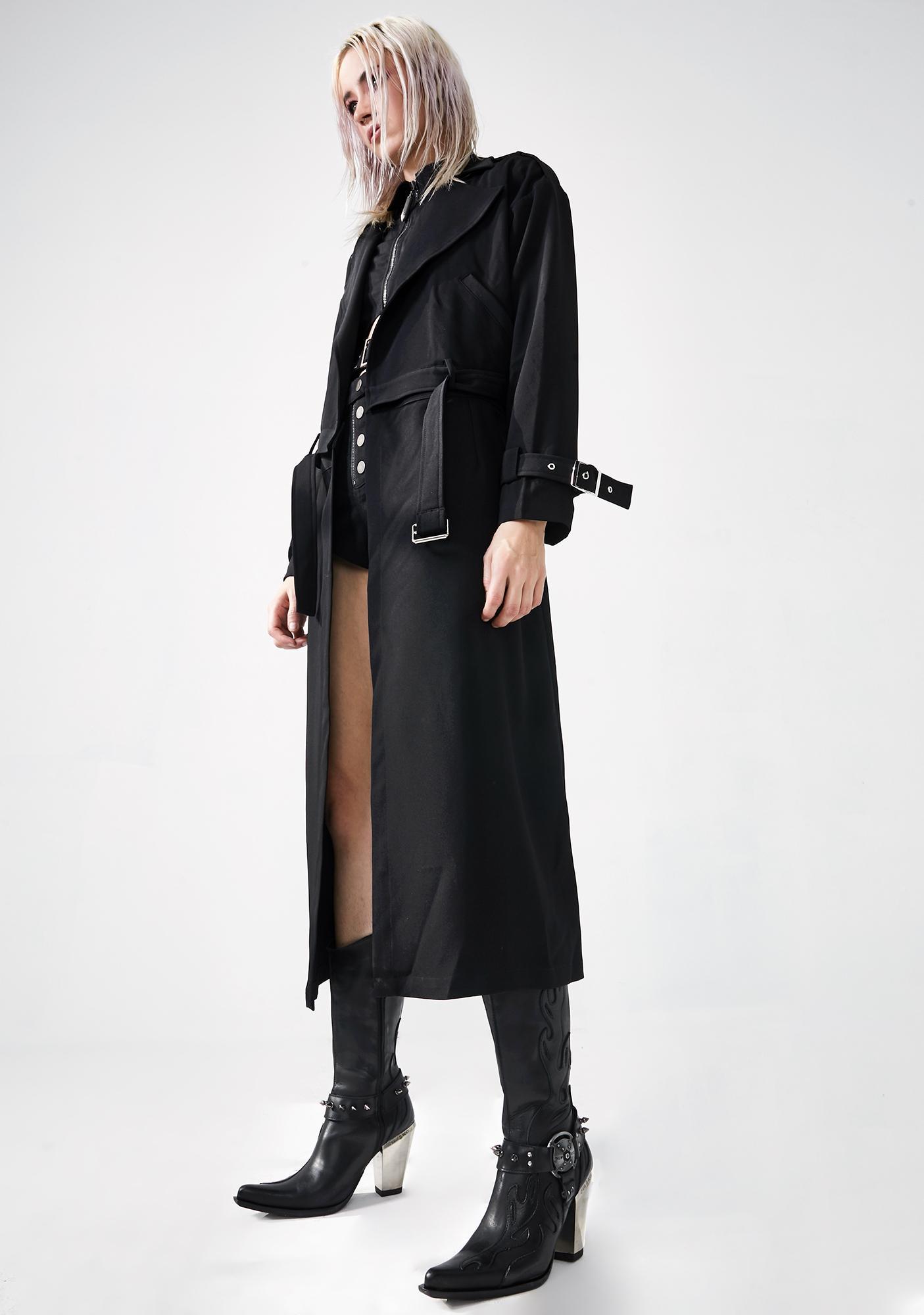 Punk Rave Long Detachable Trench Coat