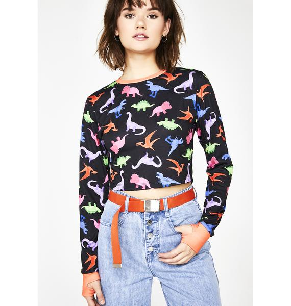 dELiA*s by Dolls Kill Dino-Mite Long Sleeve Top
