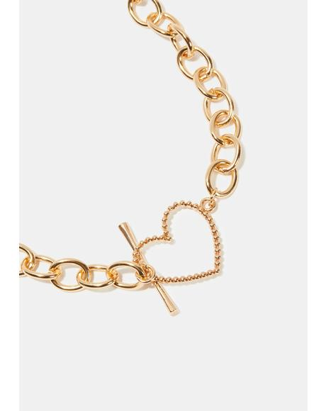 Too Hard To Love Chain Necklace