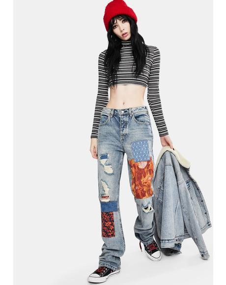 Belladonna Patchwork Jeans