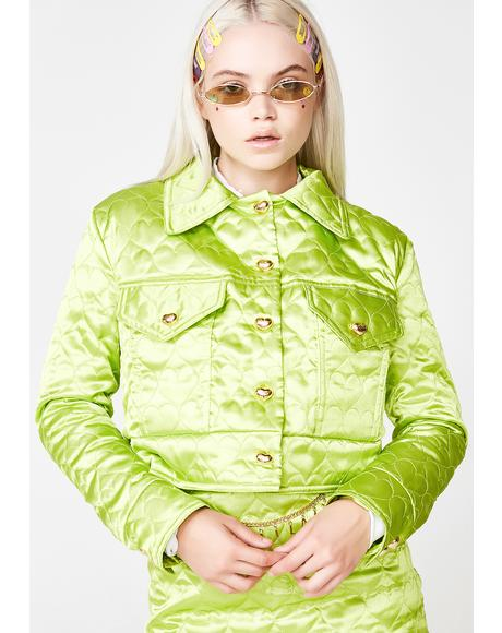 Kiwi Sweetheart Satin Jacket