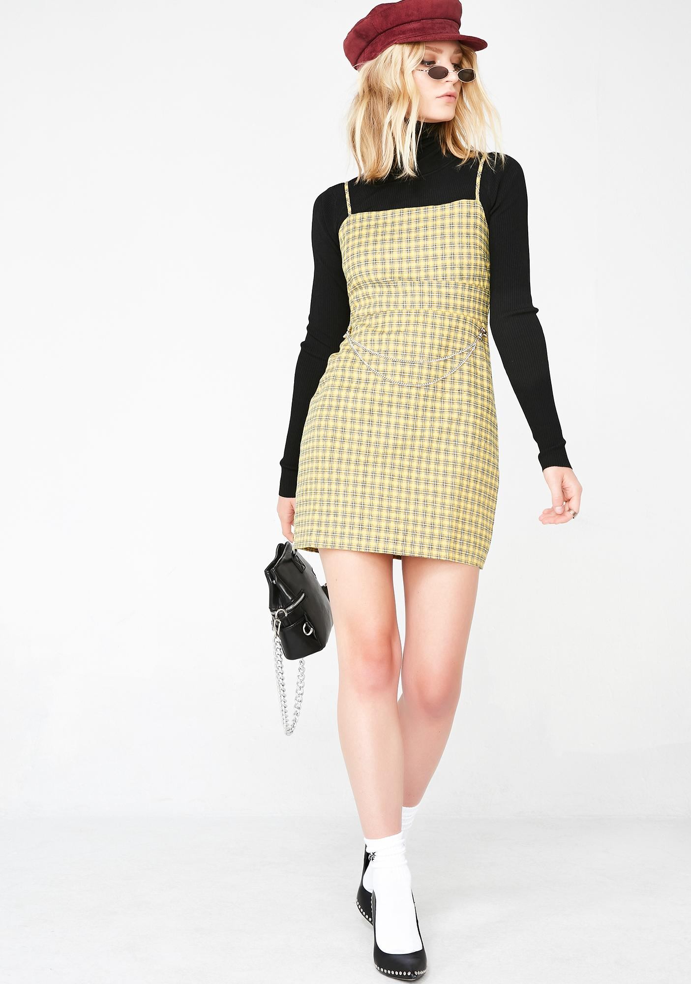 Sunny Piece Of Mind Plaid Dress
