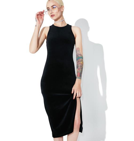 JUICY COUTURE Velour Fitted Tank Dress