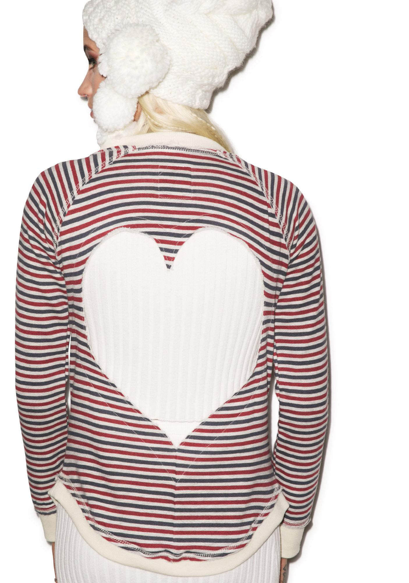Chaser Open Hearts Pullover