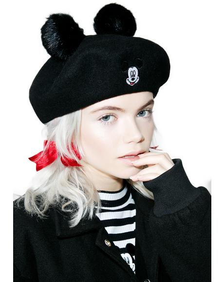 X Disney Mickey Mouse Beret