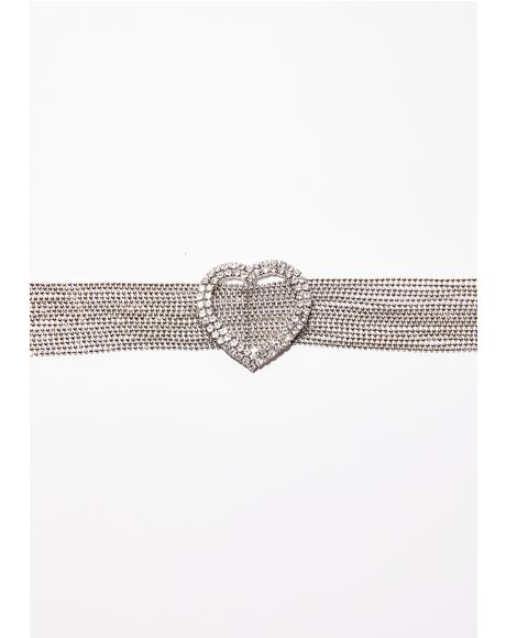 Play For Love Rhinestone Choker