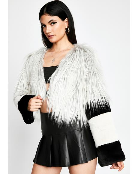 Above It All Faux Fur Jacket