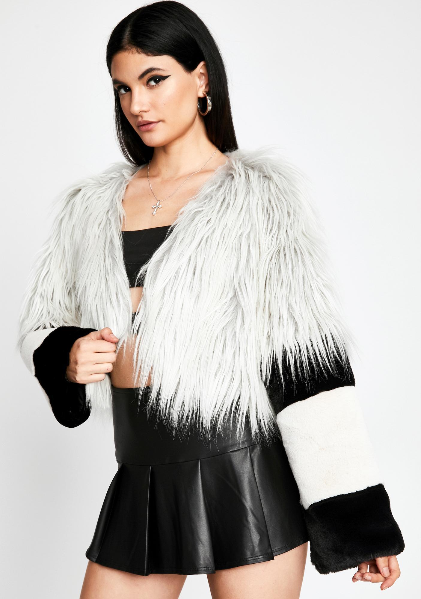 Above It All Faux Fur Jacket
