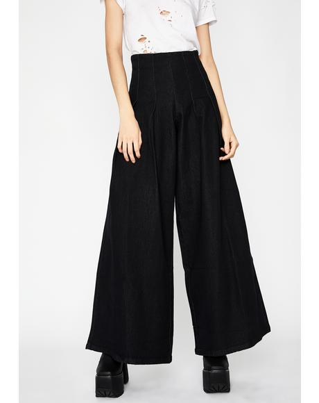 Night Wanderlust Heart Wide Leg Jeans