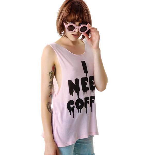Wildfox Couture I Need Coffee Cut Off Tank
