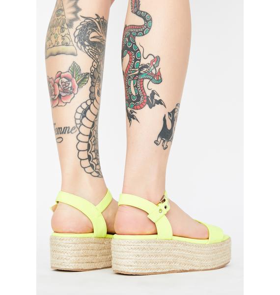 Bright Sunny Daze Platform Sandals