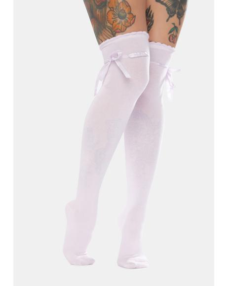 Lilac Quiet Dreams Knee High Socks