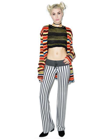Fox Stripe Baggy Beach Pants