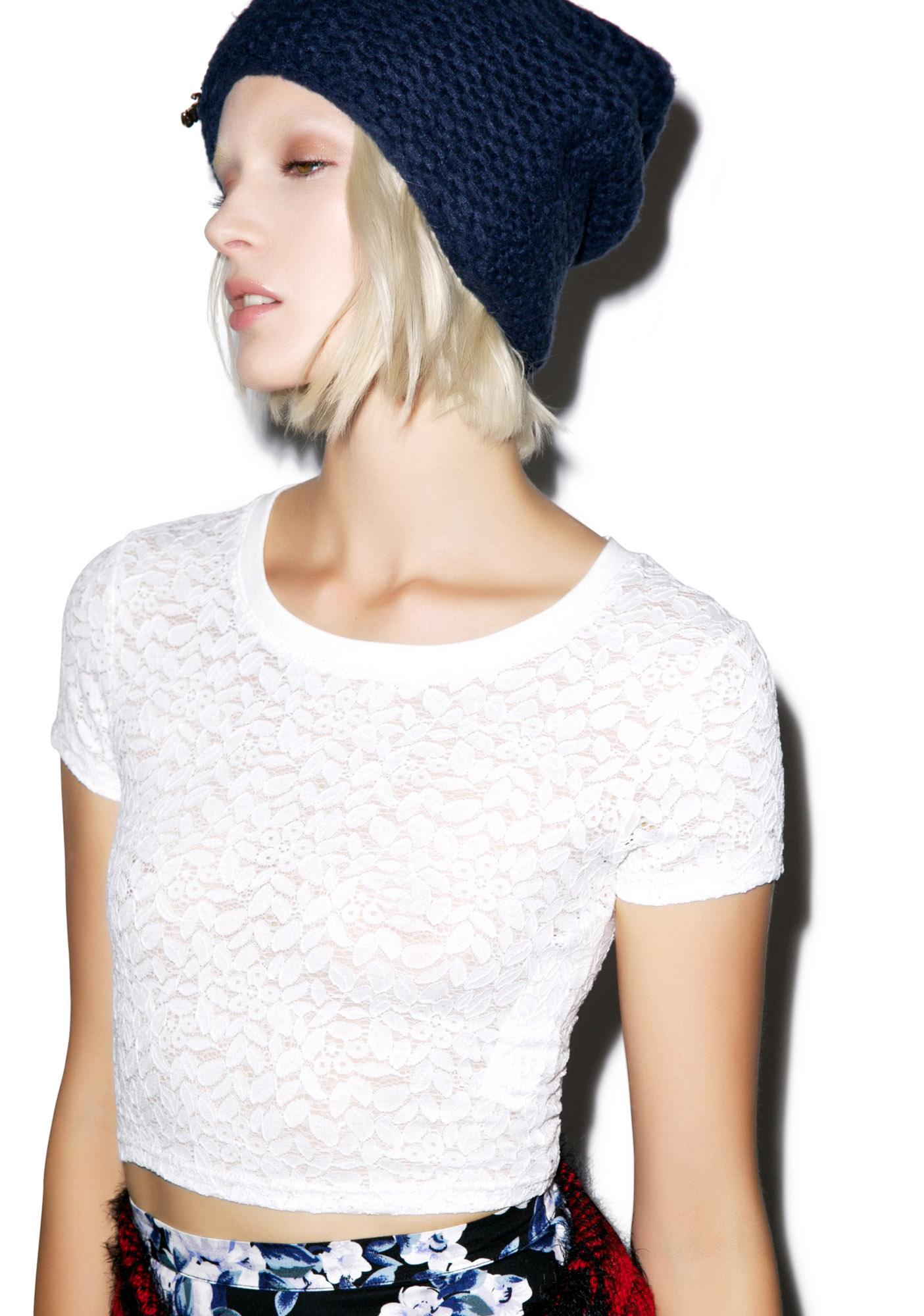 Mink Pink Can't Deny Lace Tee