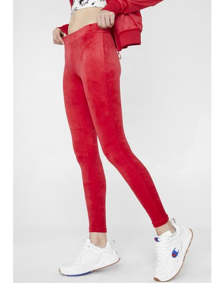 Estefania Emboss Velour Leggings