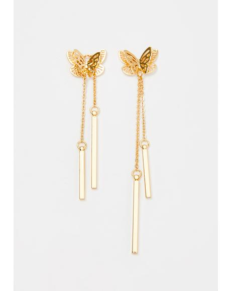 Fly By Drop Earrings