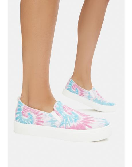 Pink Poppy Hippie Hype Slip On Sneakers