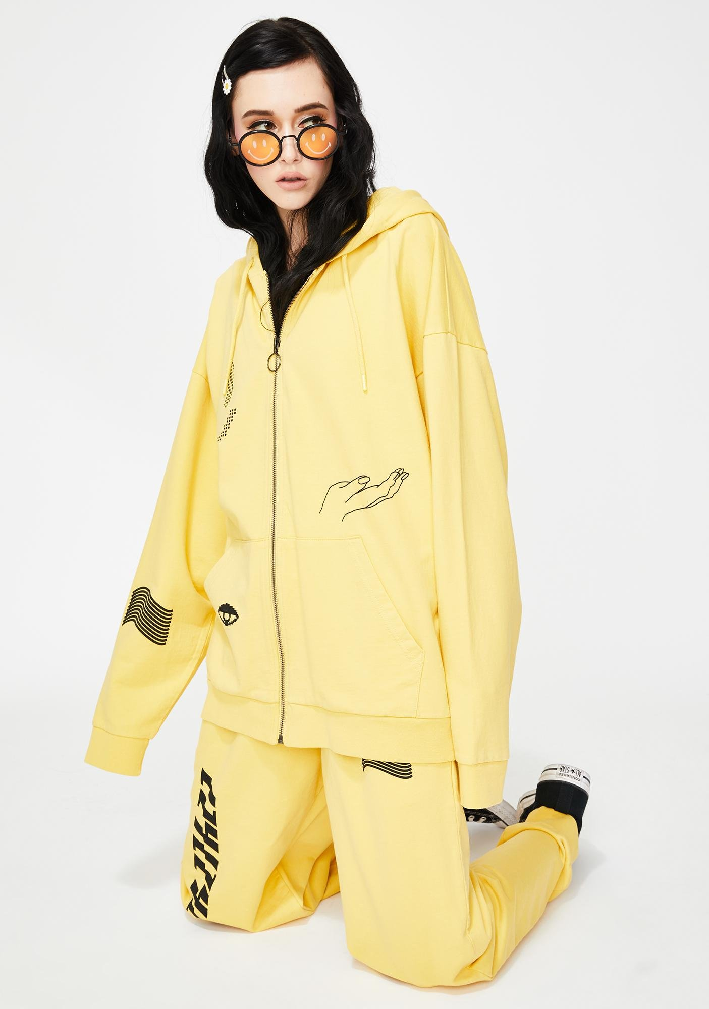 Lazy Oaf Information Technology Zip Up Hoodie