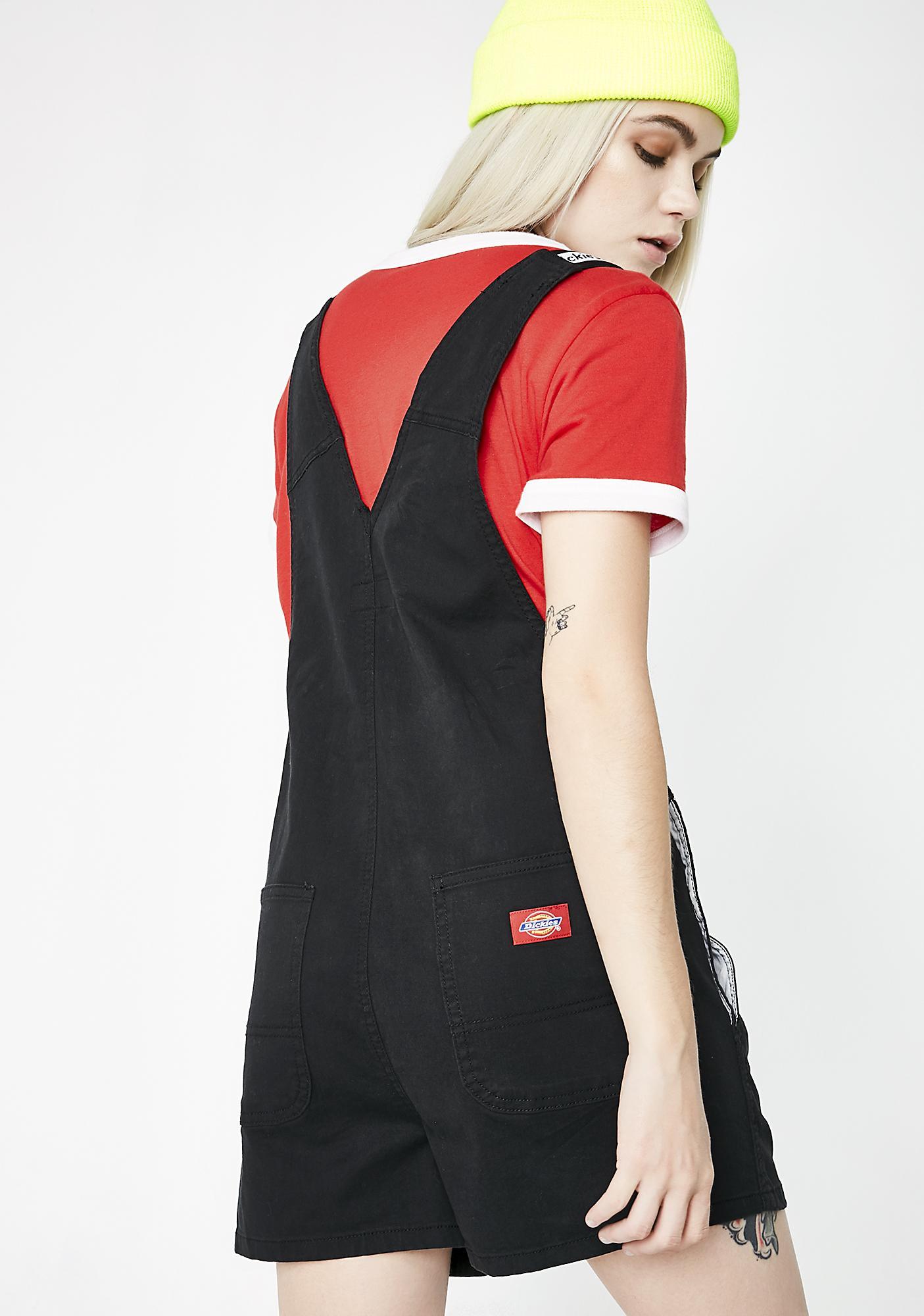 Dickies Girl Logo Strap Shortalls