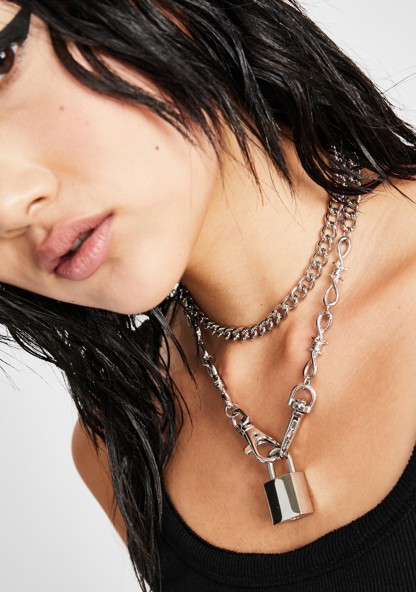 Harsh Judgement Lock Necklace