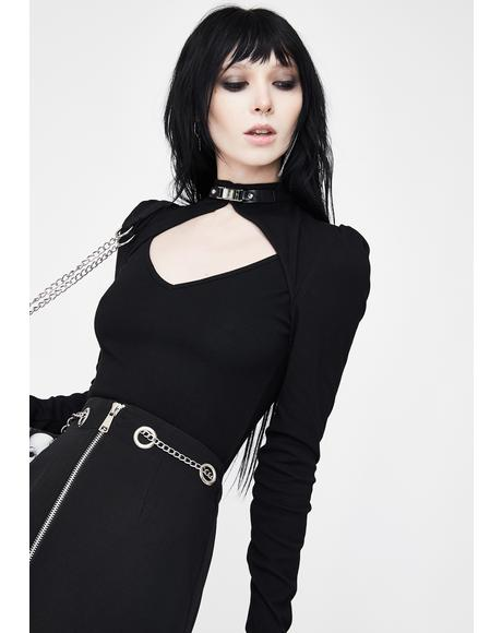 Hollow Out Long Sleeve Top
