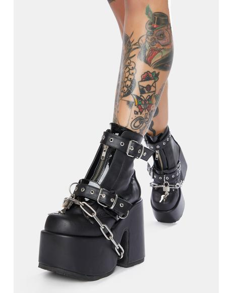 Ruin My Life Platform Ankle Boots