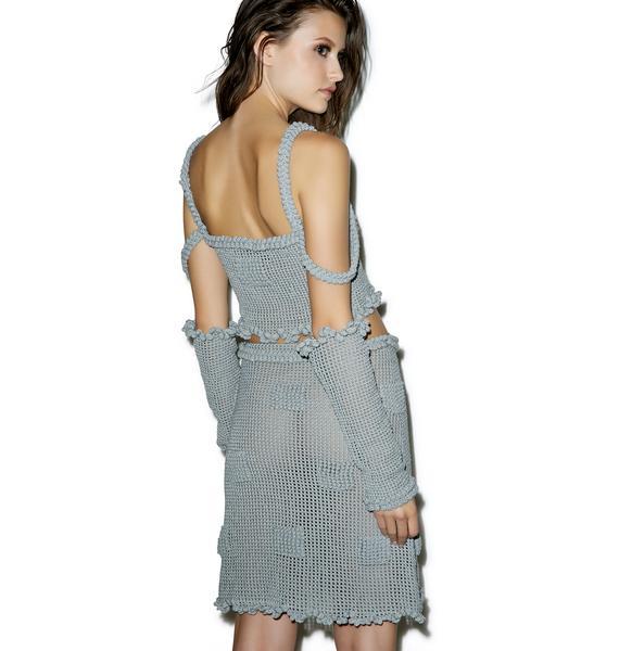 Maria ke Fisherman Candy Mesh Crochet Skirt