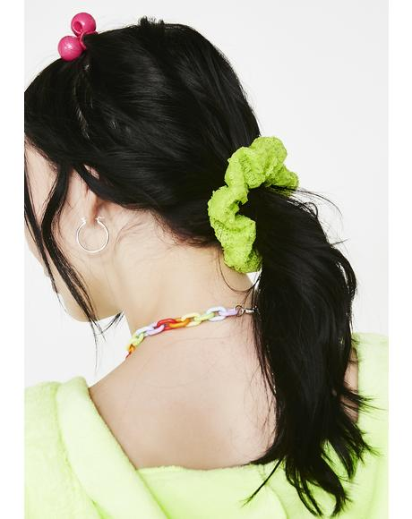 Slime Time Sequin Scrunchie