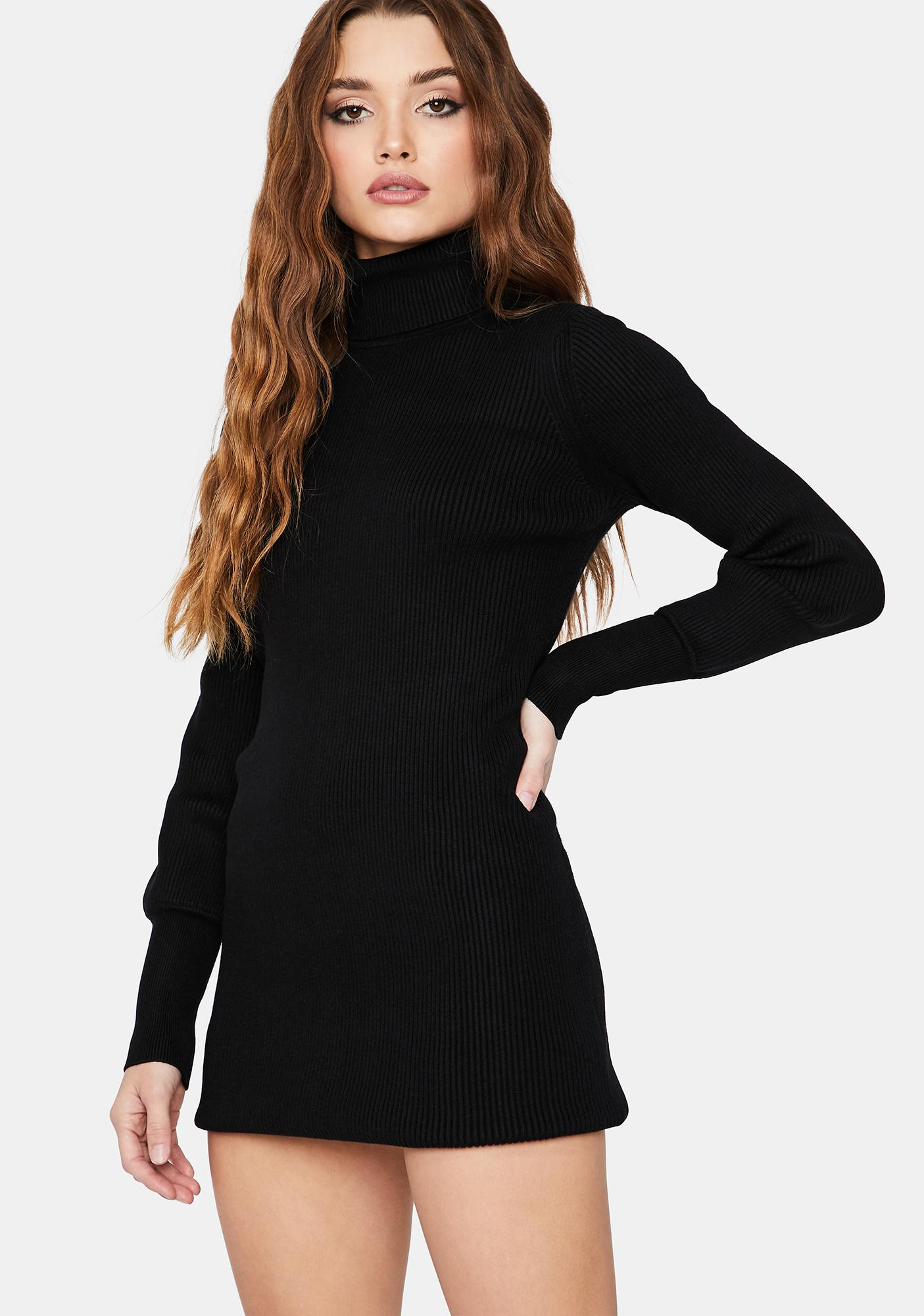 On the Cheek Turtleneck Mini Dress
