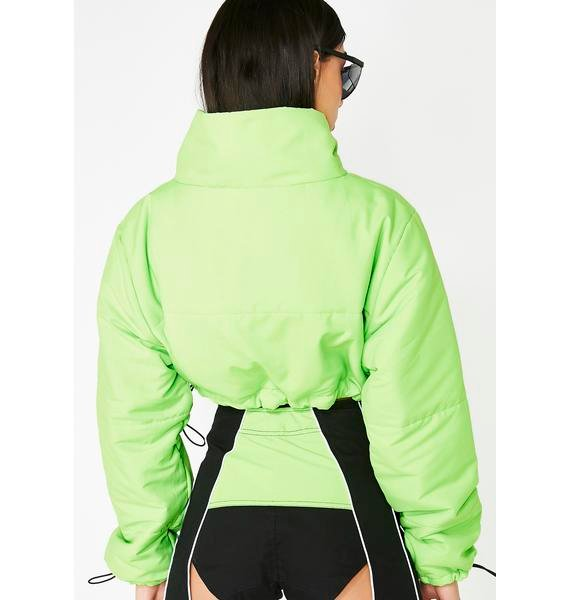 Lipt The Label Cropped Puffer Jacket