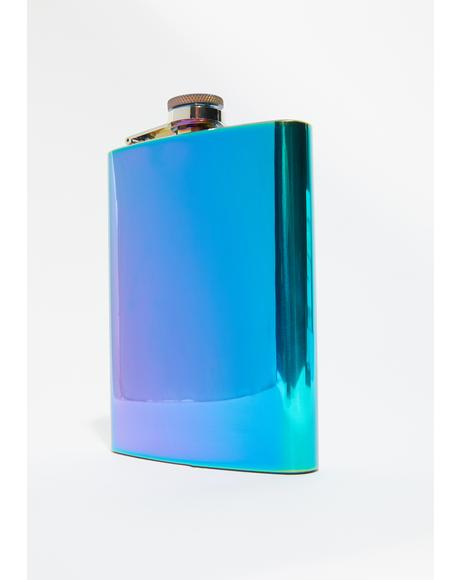 Hardly Working Metallic Flask